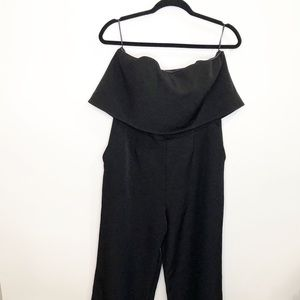 Express Strapless Jumpsuit with Ruffle